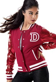 Sequin Varsity Jacket