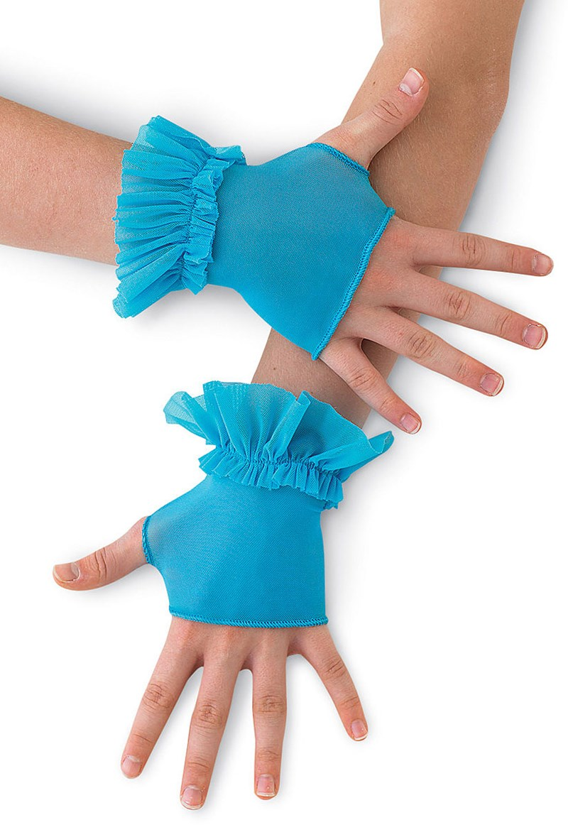 Balera Ruffled Mesh Mitts