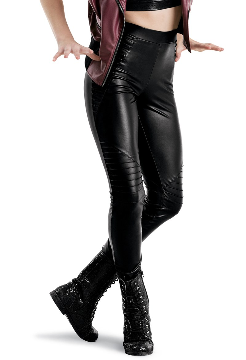 Balera Faux Leather Moto Leggings