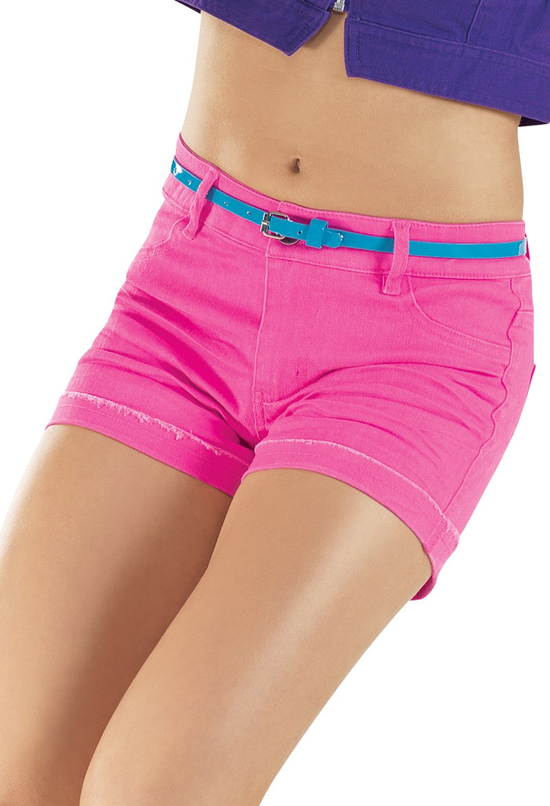 Urban Groove Bright Color Denim Shorts