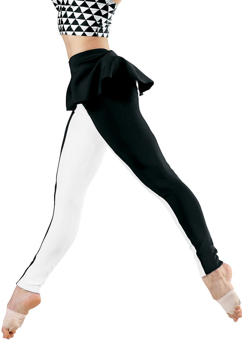 Balera Color-Block Peplum Leggings