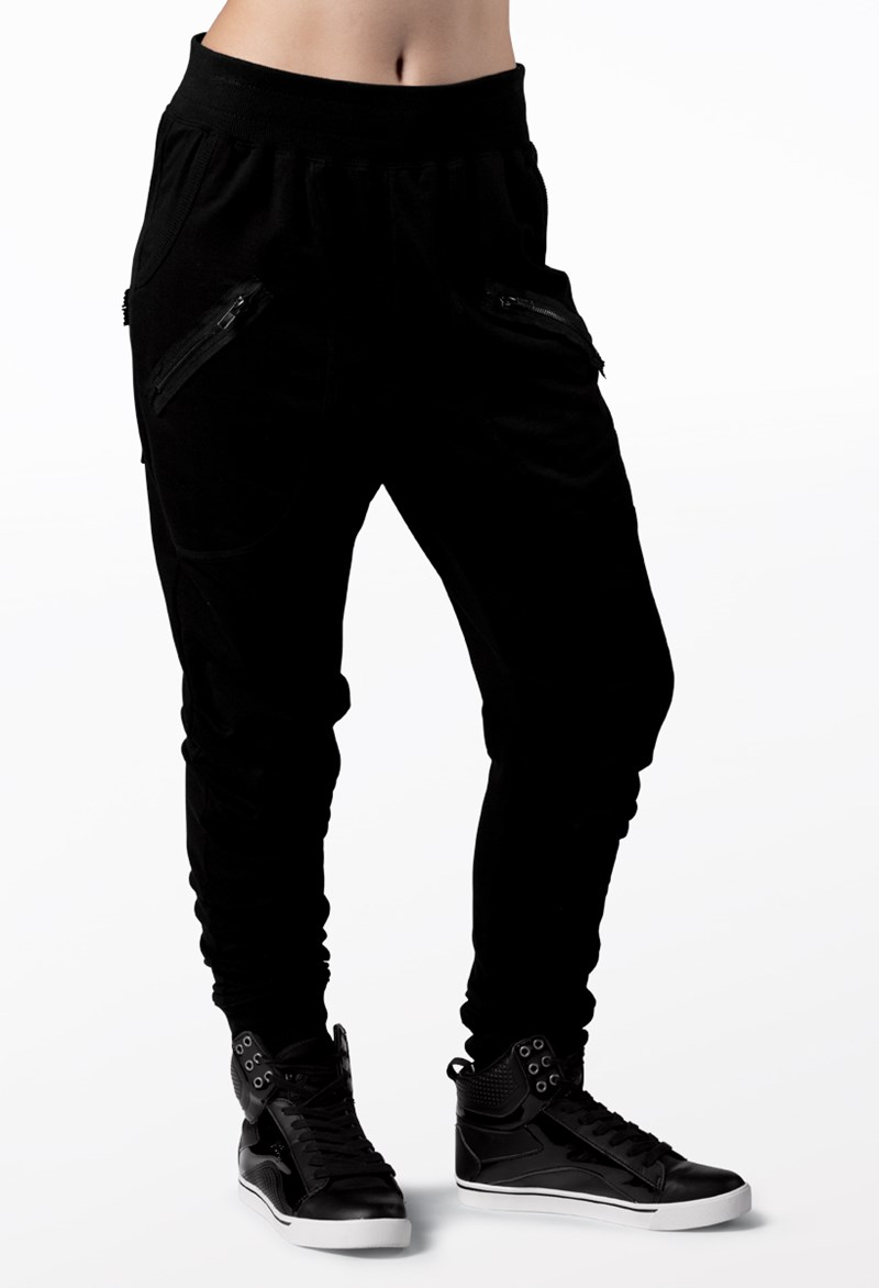 Urban Groove Zipper Detail Harem Pants