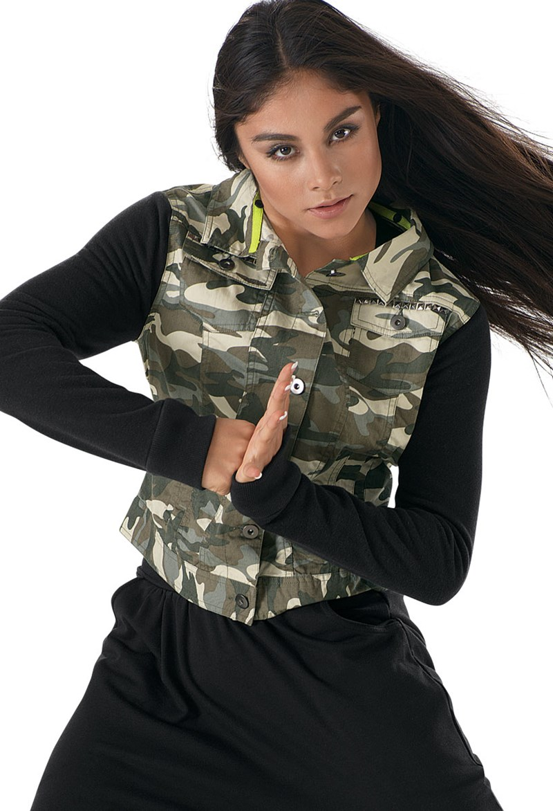 Urban Groove Detachable Hood Camo Jacket