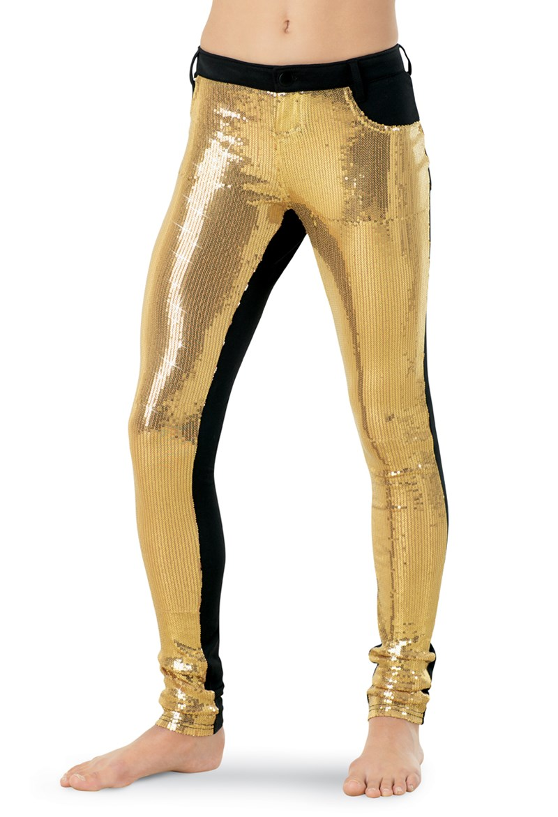 Sequin-Front Jeggings