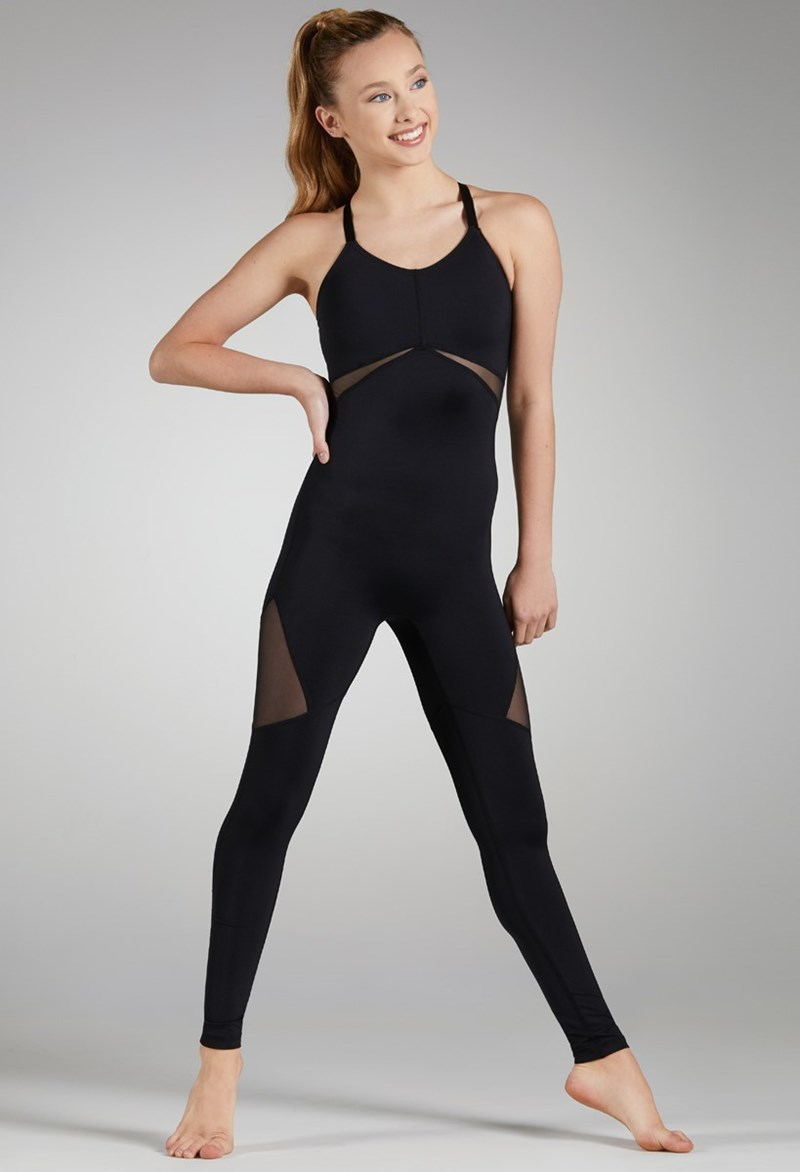 FlexTek Camisole Unitard - Black - Child - CF11599