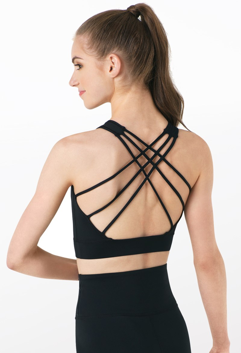 FlexTek Open Back Crop Top