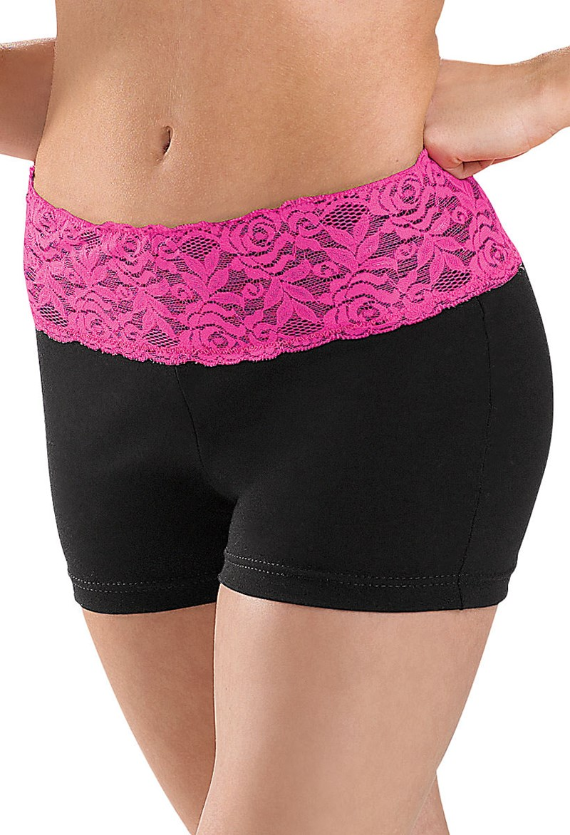 Balera Bright Lace Waistband Shorts