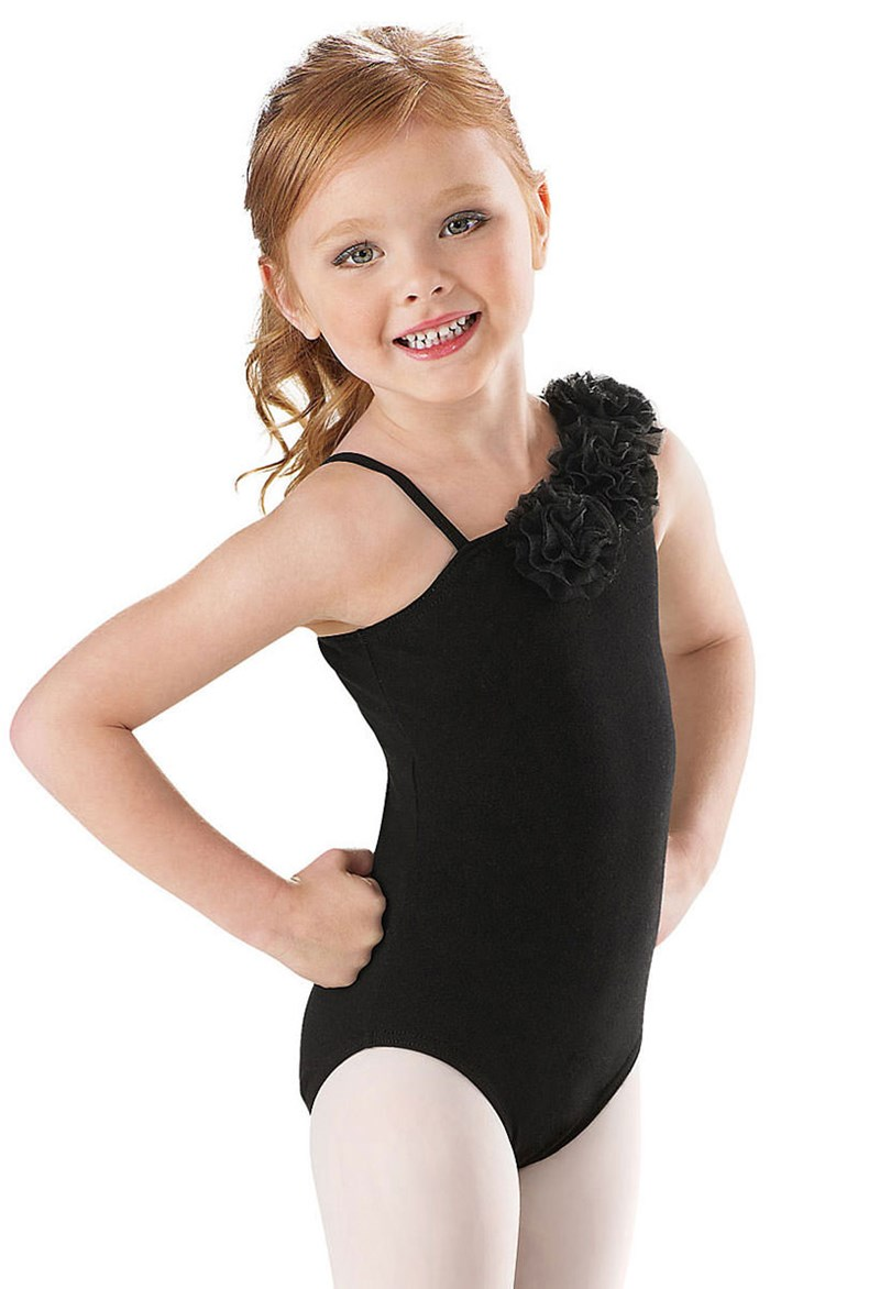 little stars asymmetrical flower leotard adorable one shoulder