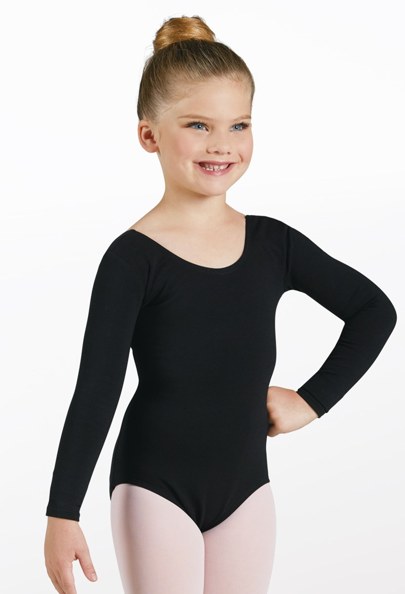 Cotton Long-Sleeve Leotard