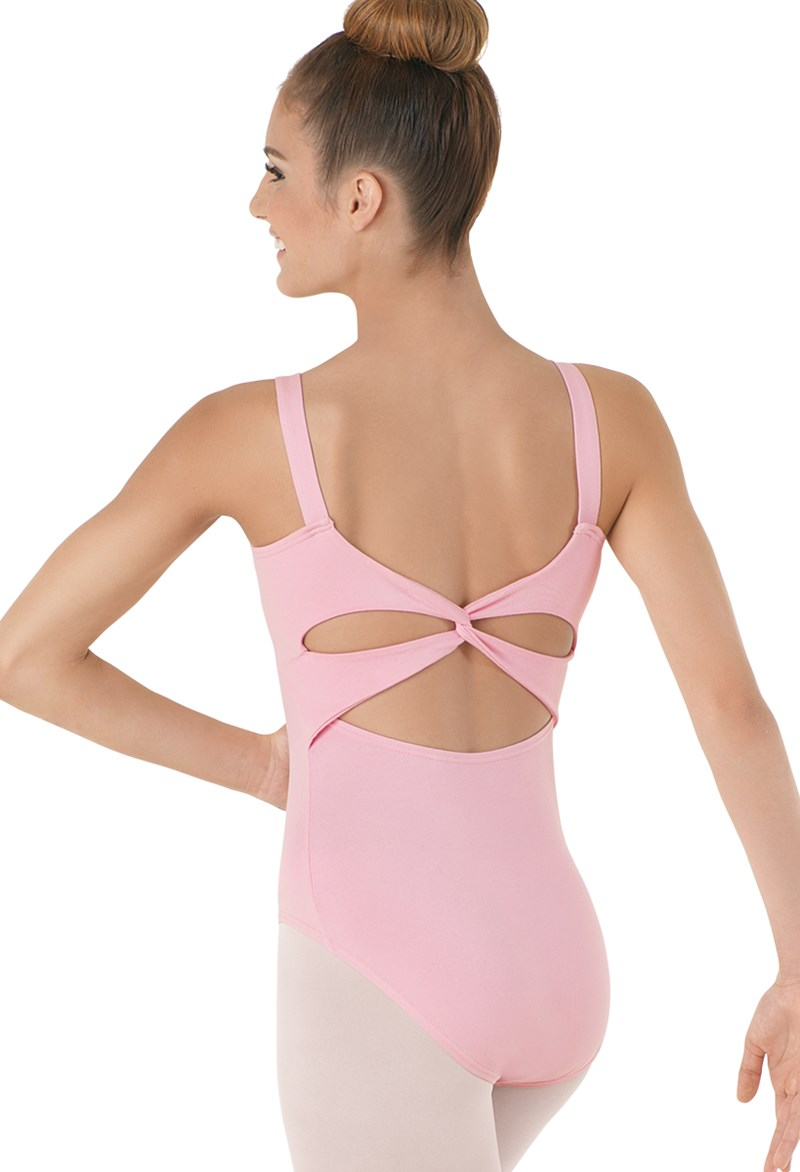 Cotton Twist-Back Leotard