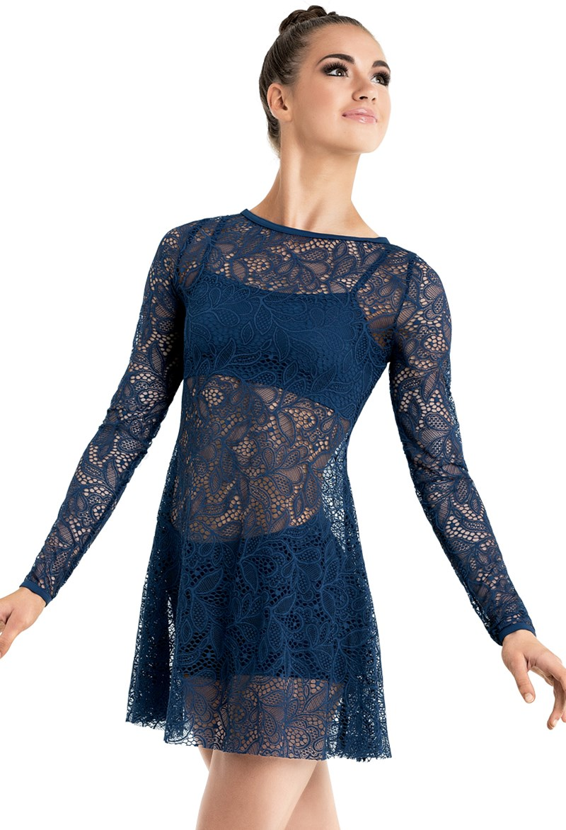 Long Sleeve Lace Overdress