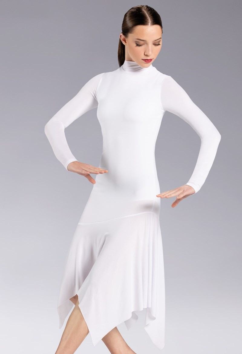 Balera Jersey Handkerchief Dress - White - D12227