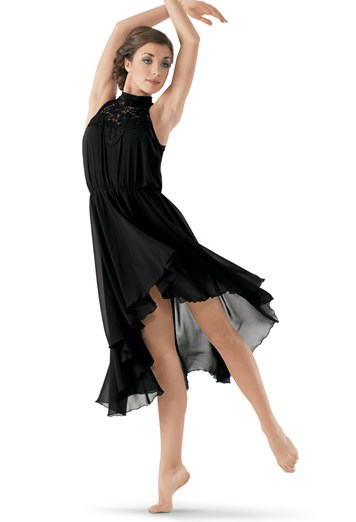 Hairstyles For A Lyrical Dance : High low lace mock neck overdress balera