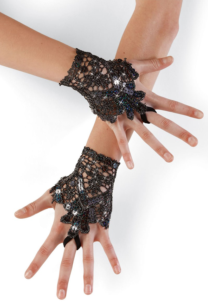 Balera Sequin Lace Gloves