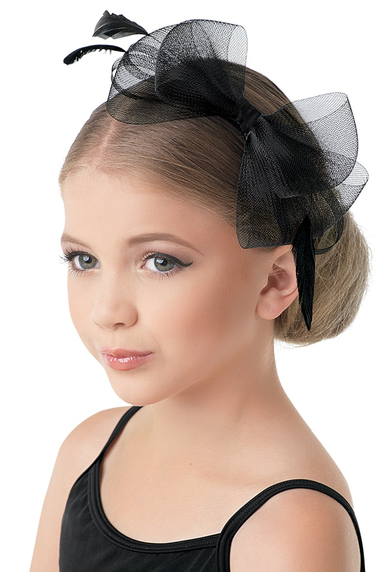 Balera Feather & Mesh Bow Headband