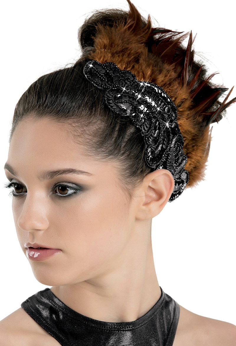 Balera Feather & Applique Hair Clip