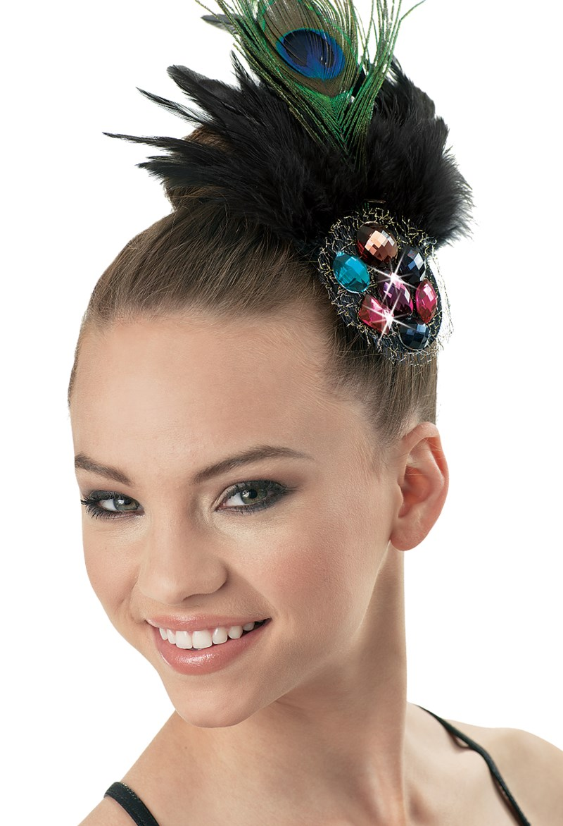 Balera Jeweled Feather Headpiece