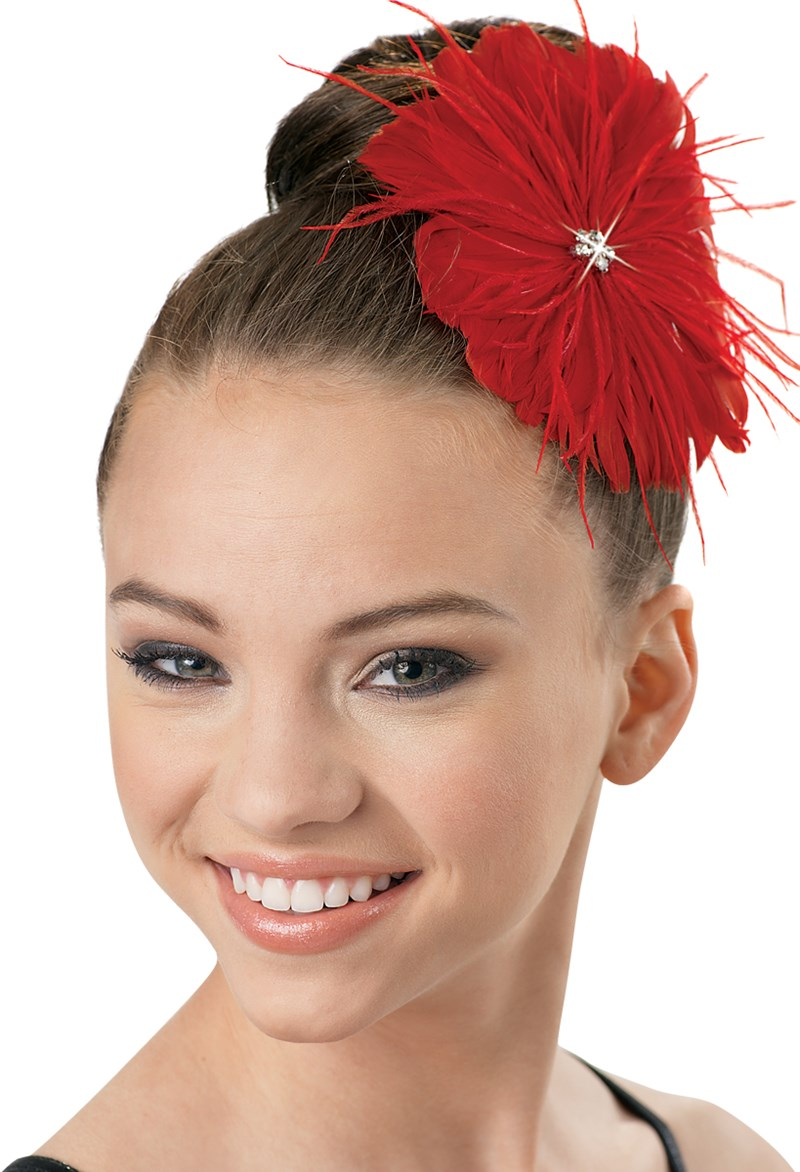 Balera Feather Flower Hair Clip