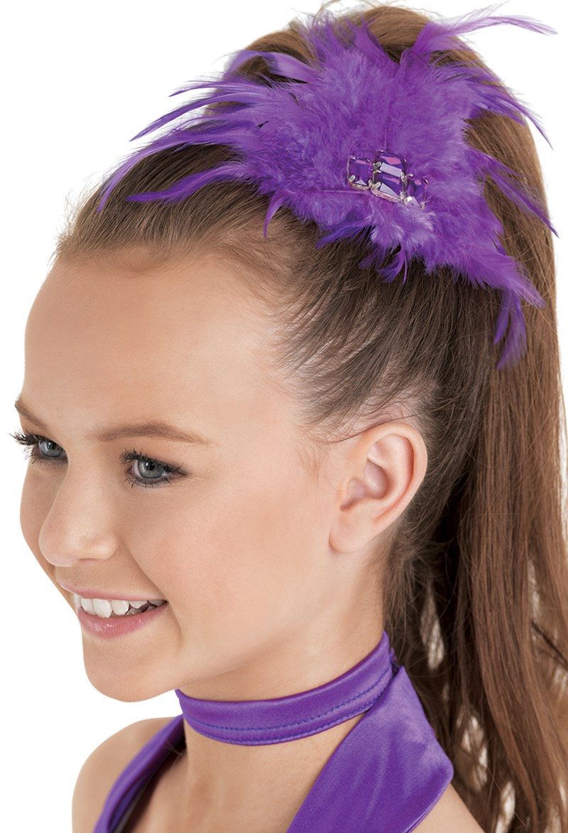 Balera Feather Jewel Hair Clip