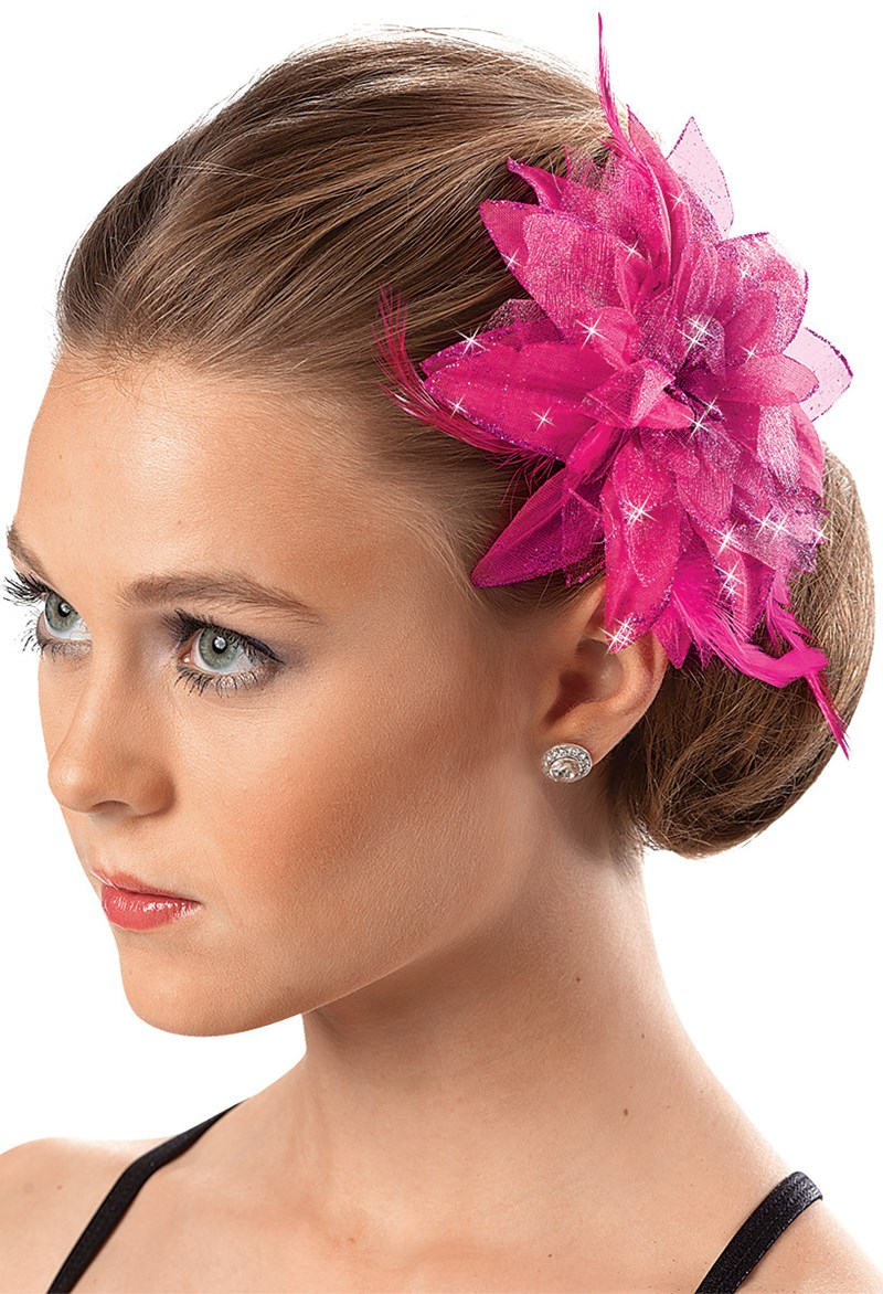 Balera Feathered Flower Clip