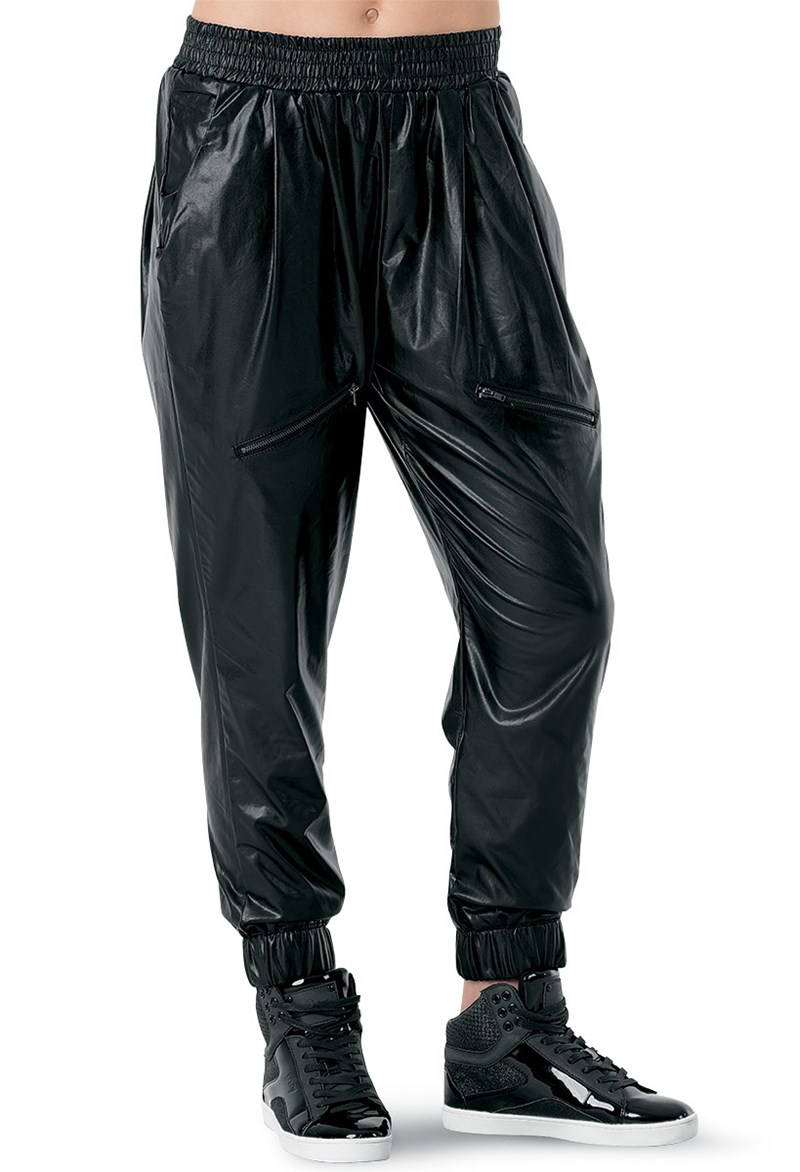 Urban Groove Faux Leather Joggers