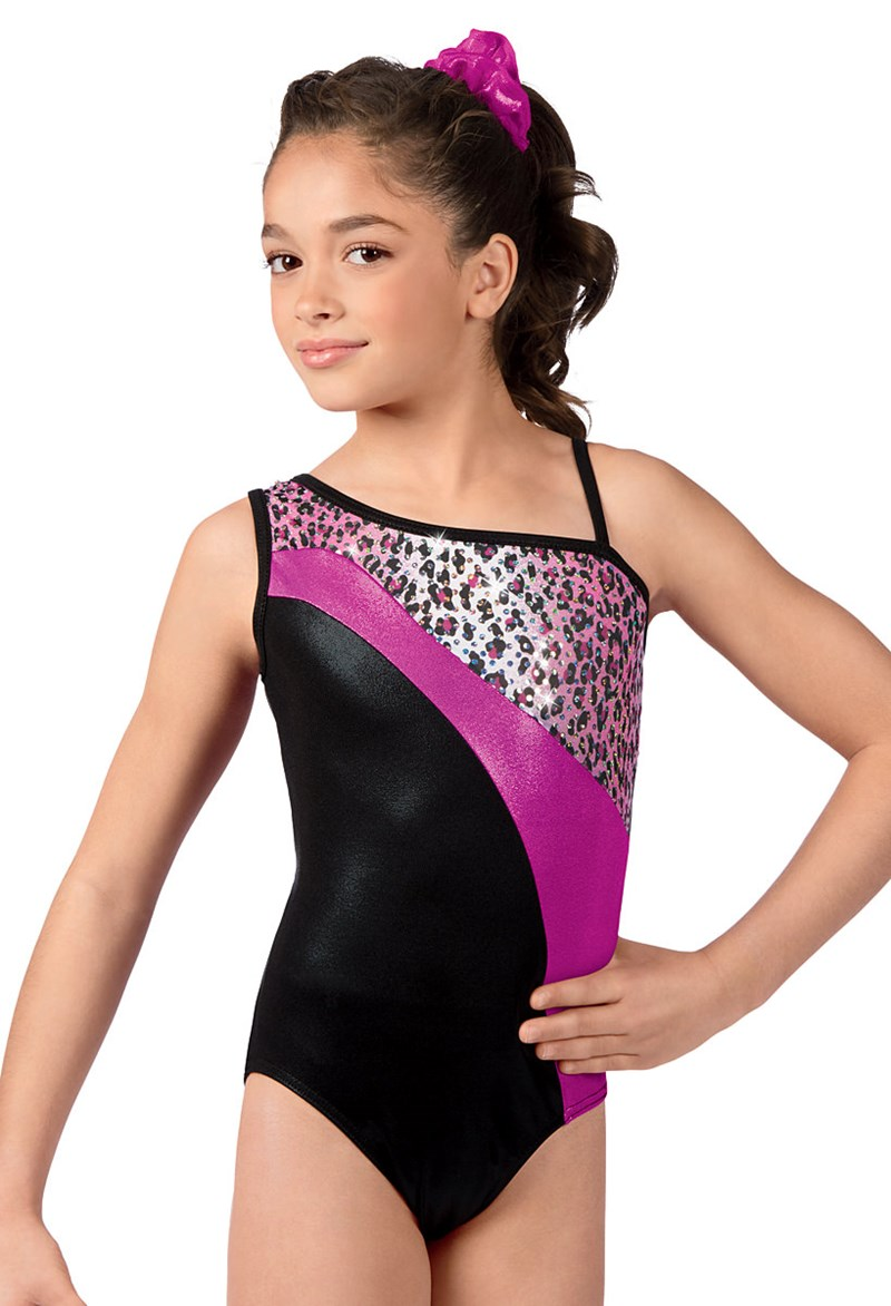 Metallic Leopard Print Leotard