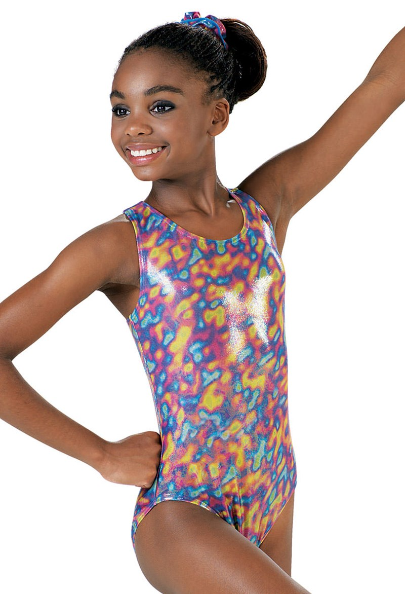 Metallic Print Leotard