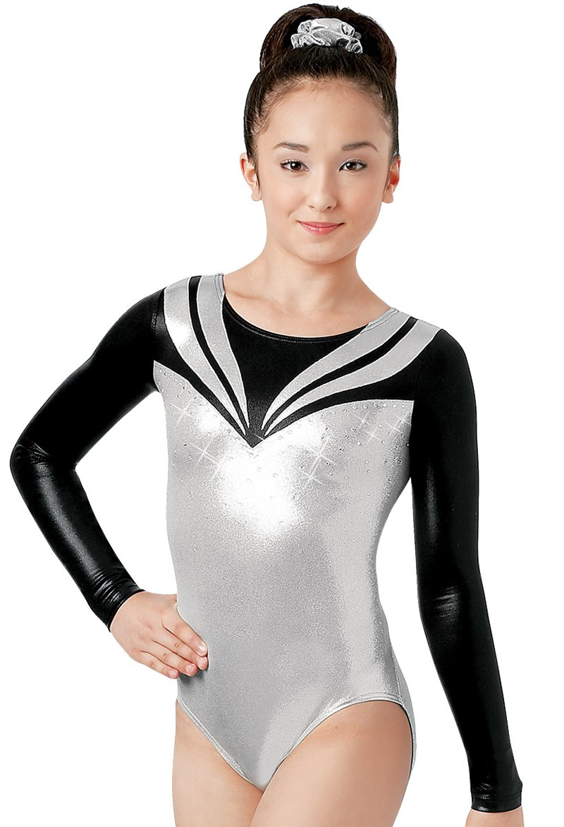 Rhinestones & Metallic Leotard