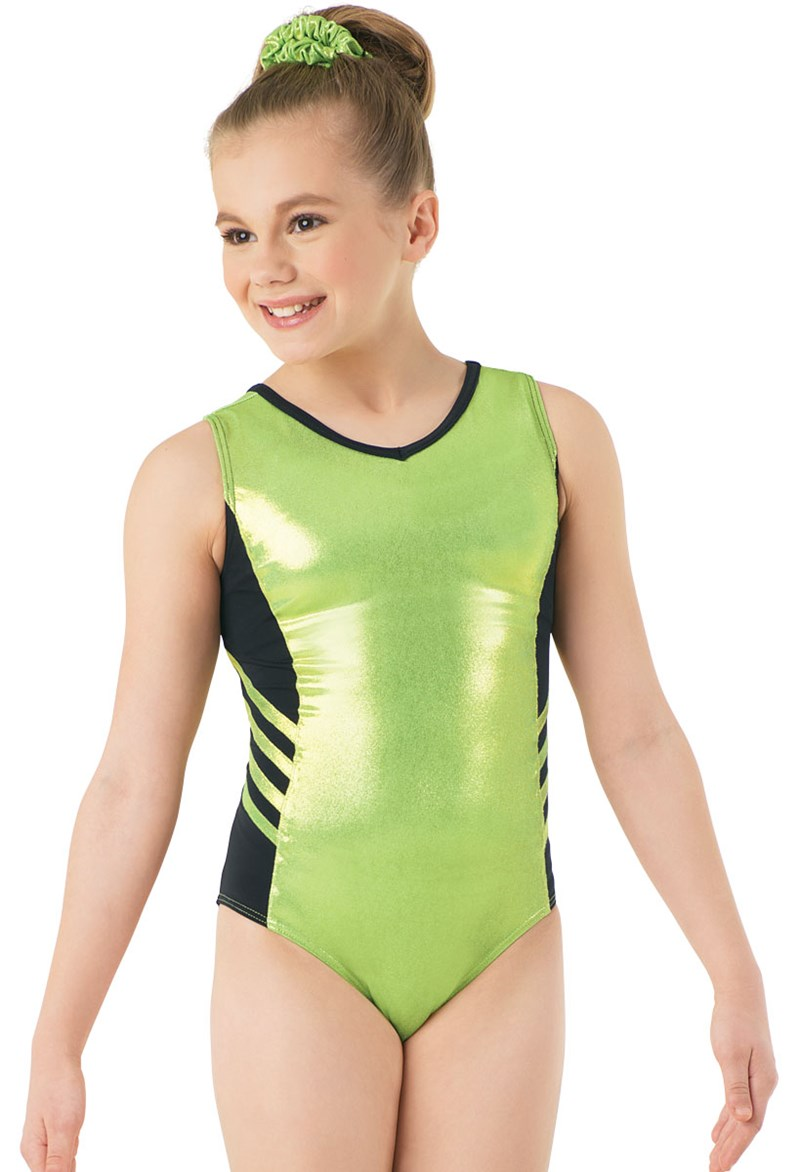 Metallic Side Stripe Leotard