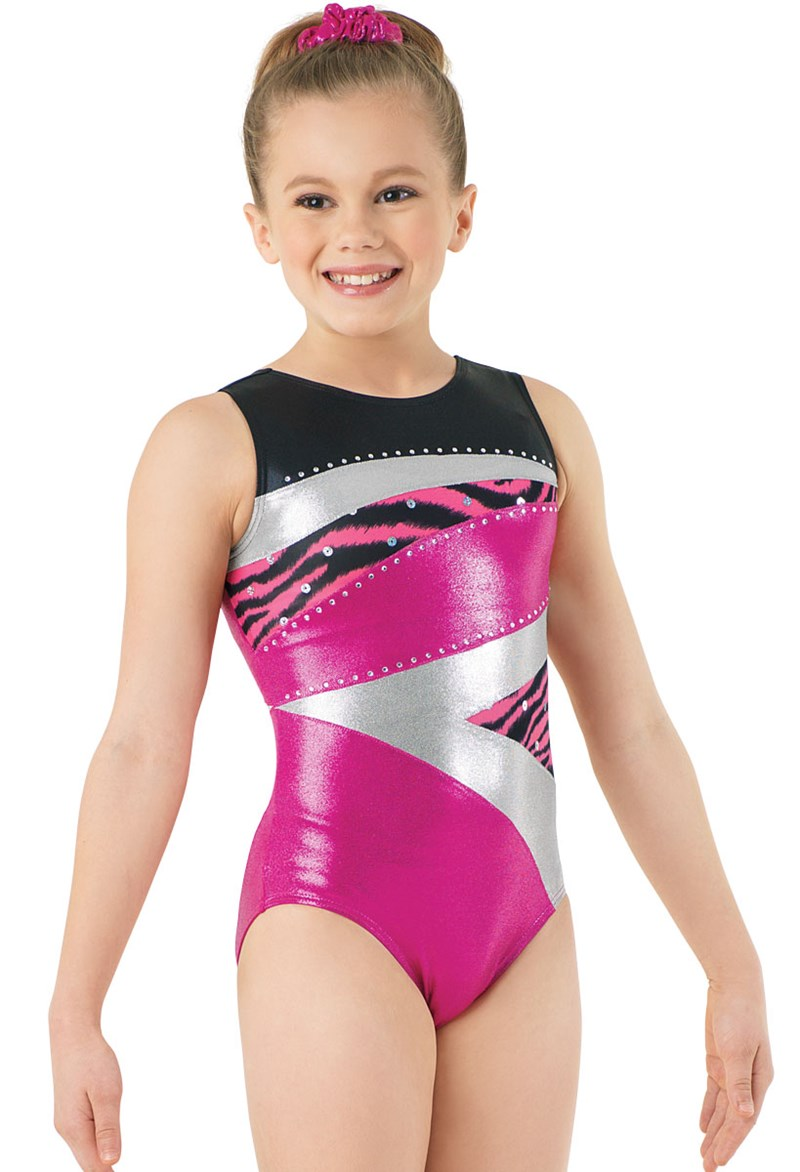 Metallic Zebra Print Leotard