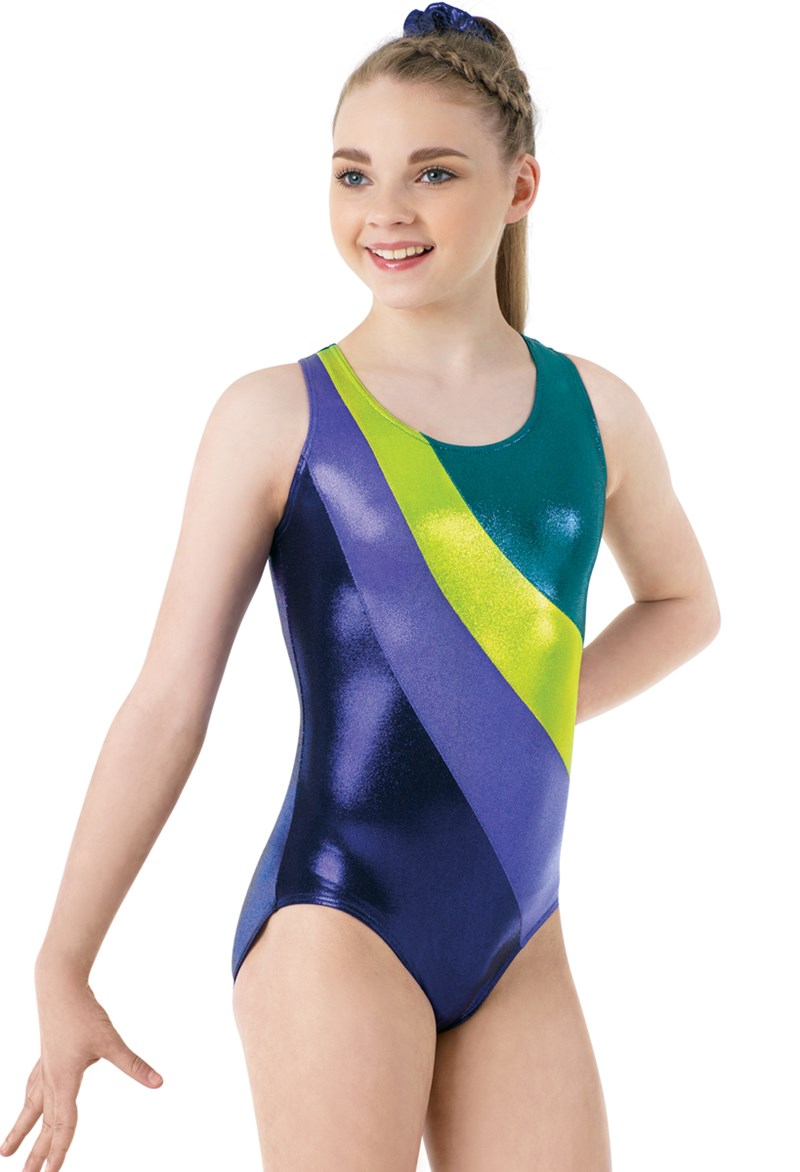 Swipe Color-Block Gym Leotard