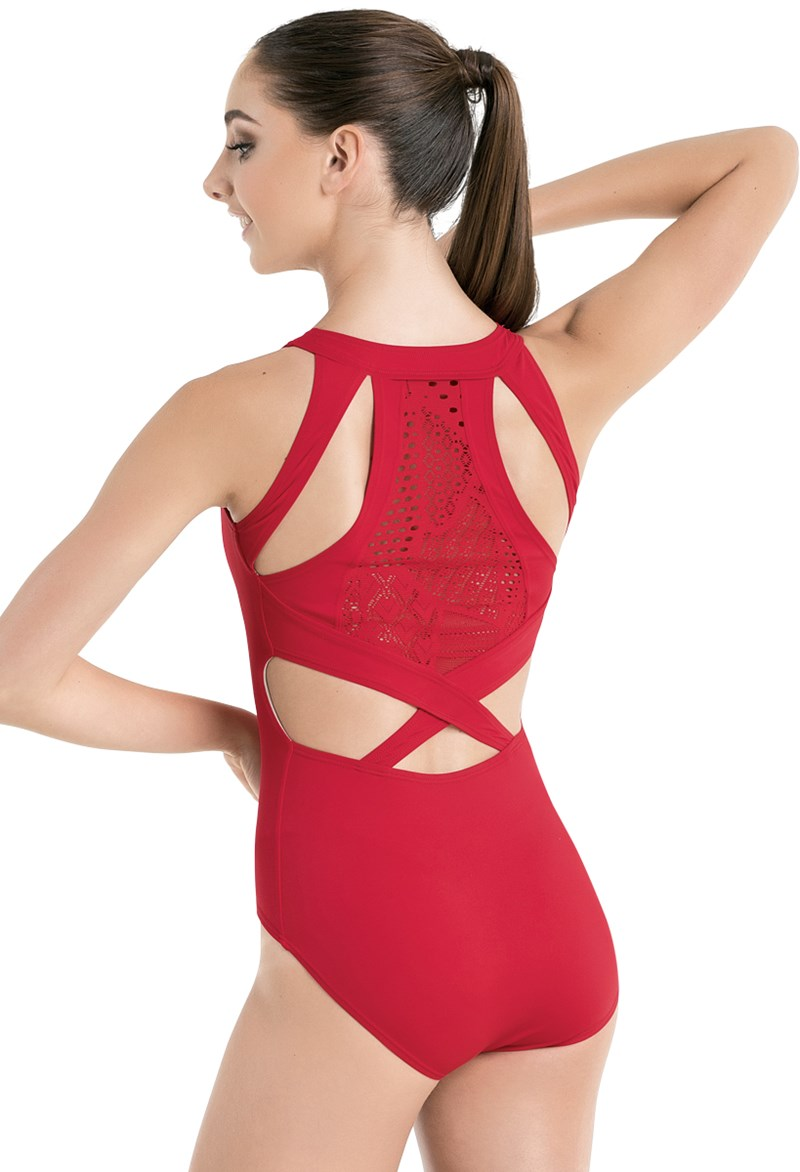 Patchwork Lace Back Leotard