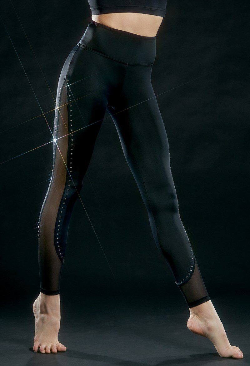 Ivy Sky Performance Crystal Mesh Detail Leggings