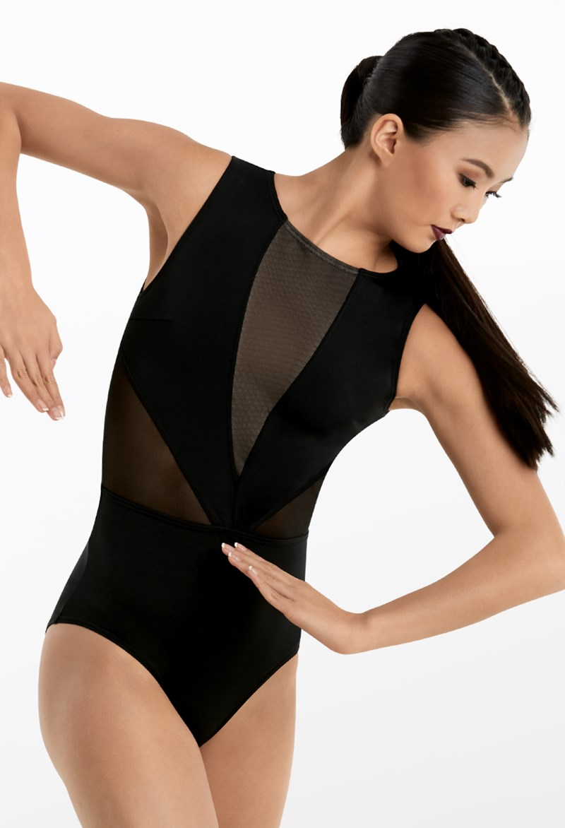 Sleeveless Illusion Leotard