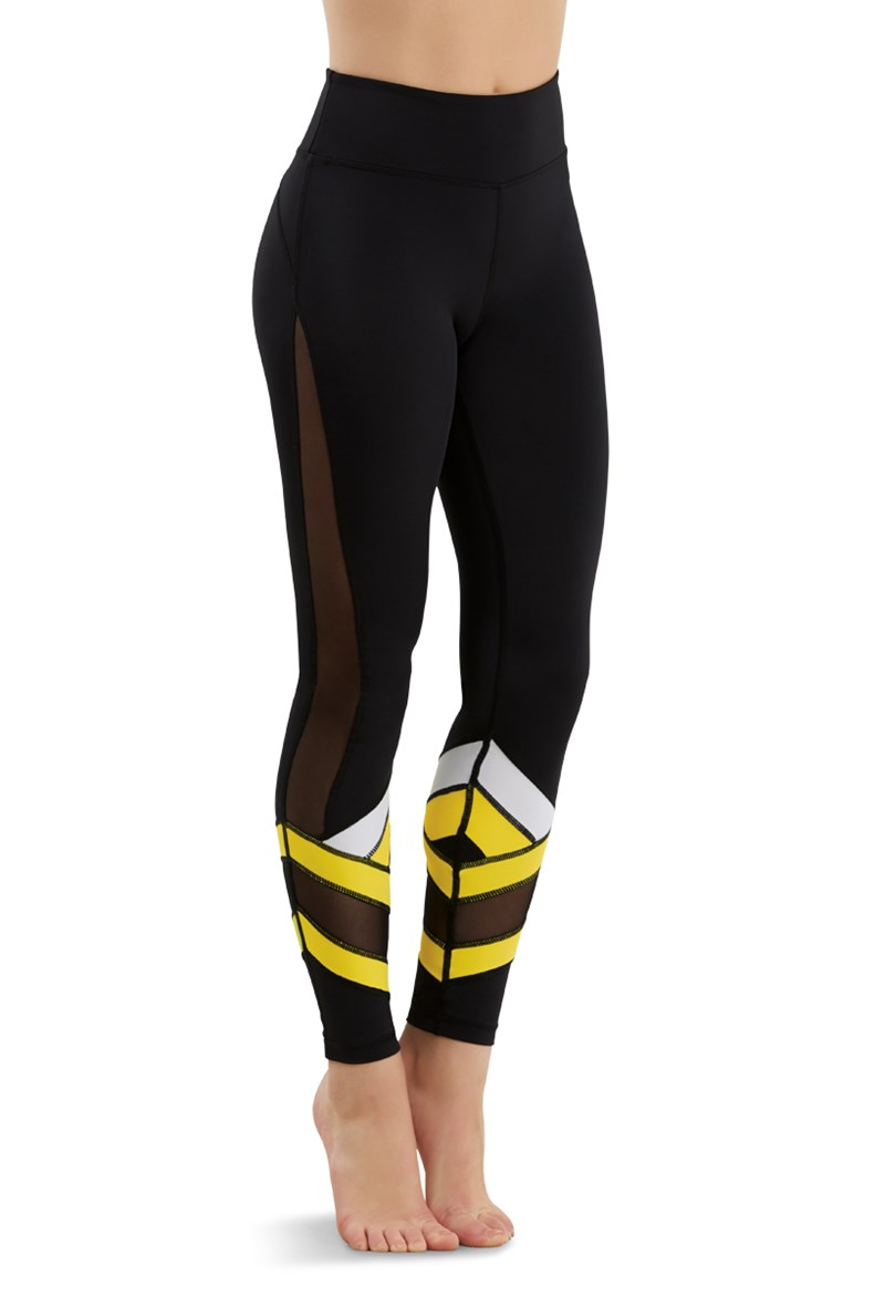 Balera Bright Stripe Mesh Leggings