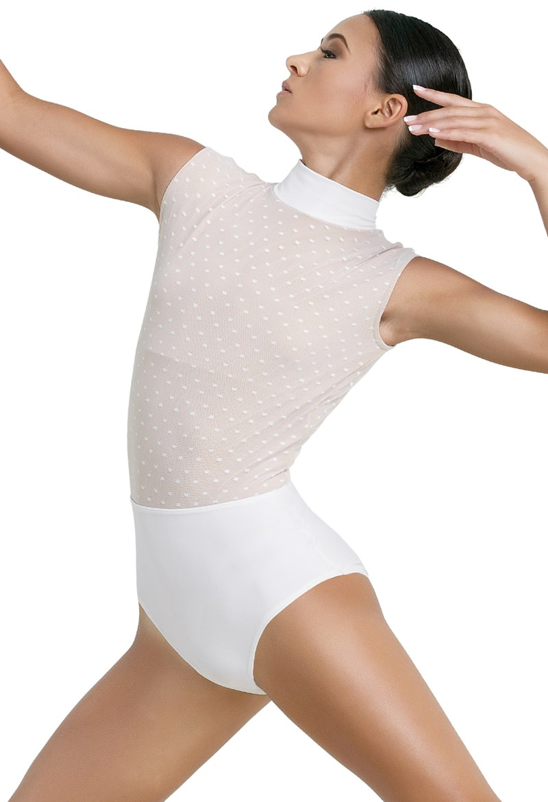 Point d'Esprit Bodice Leotard