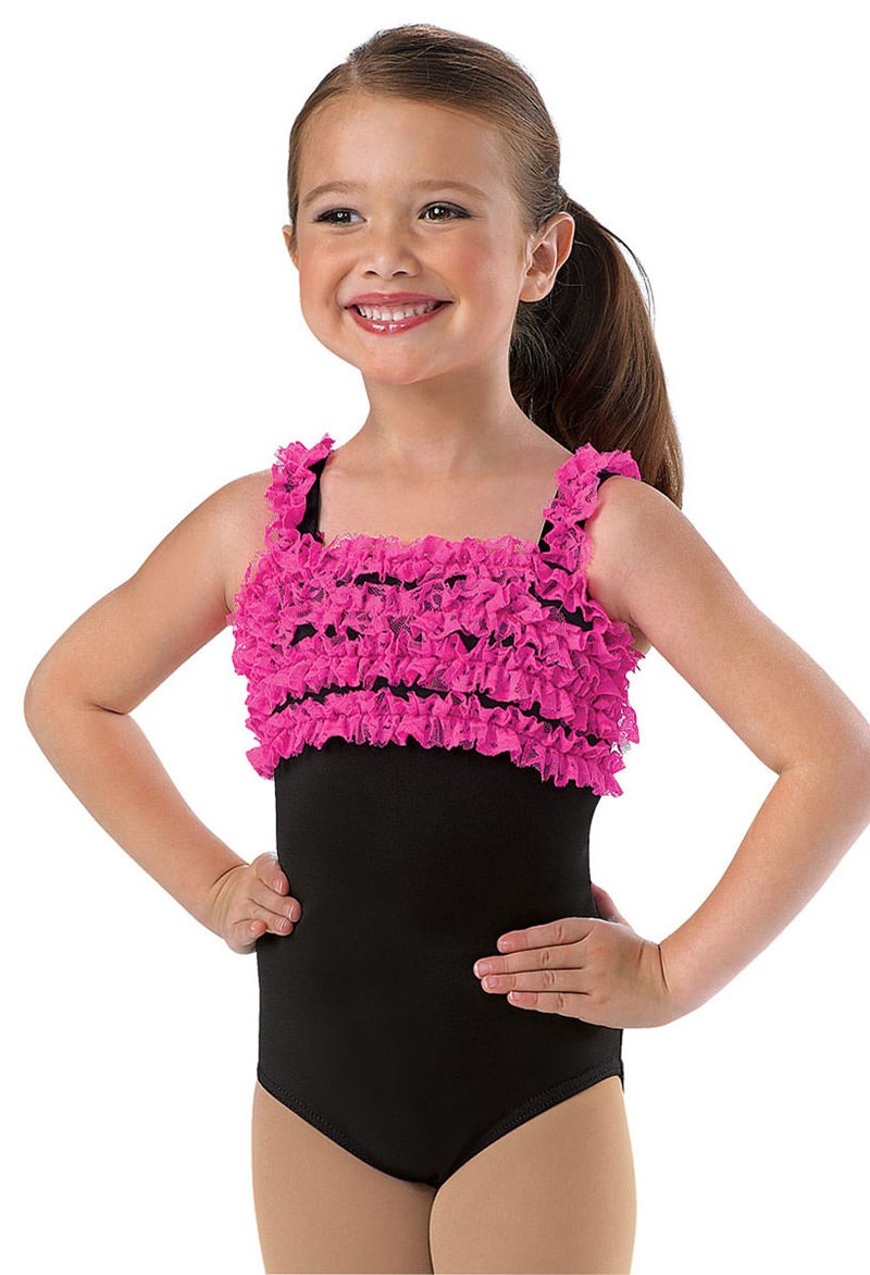 Little Stars Girls' Lace Ruffle Leotard
