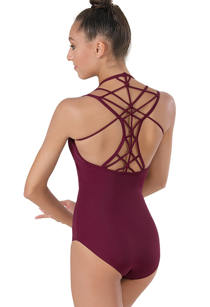 Macrame-Back Leotard