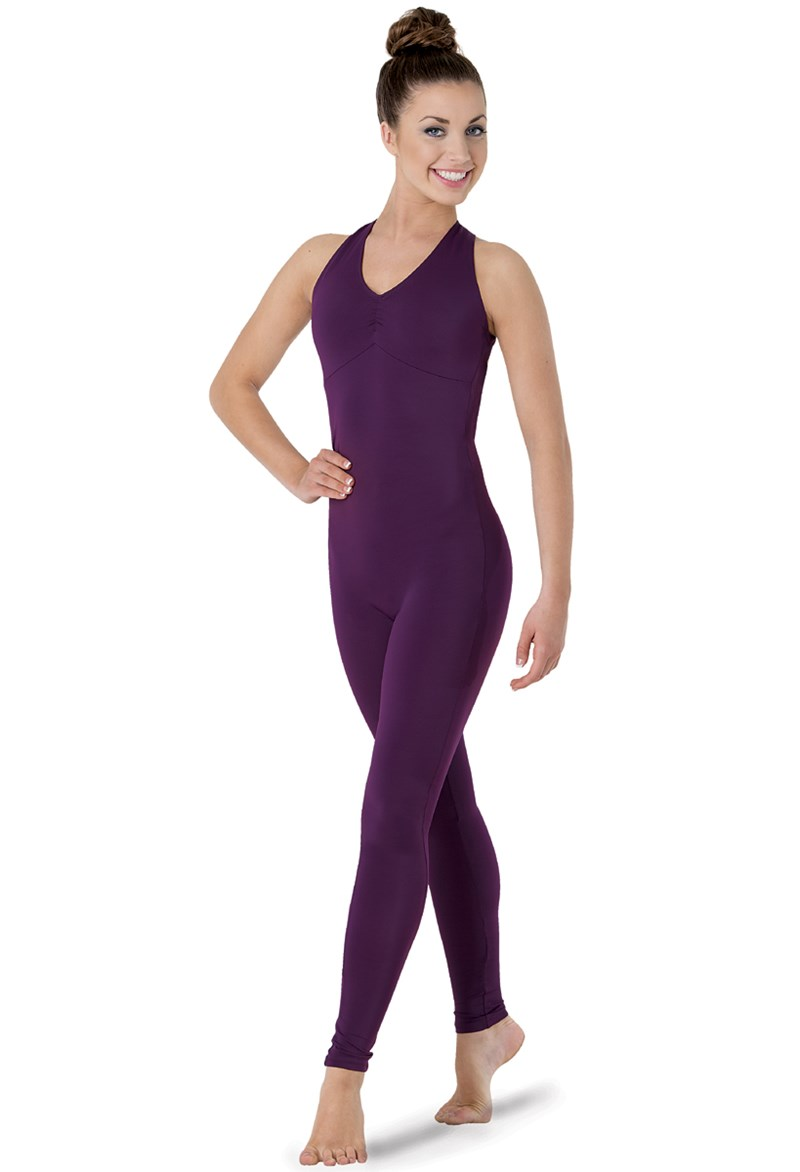 V-Neck Backless Unitard