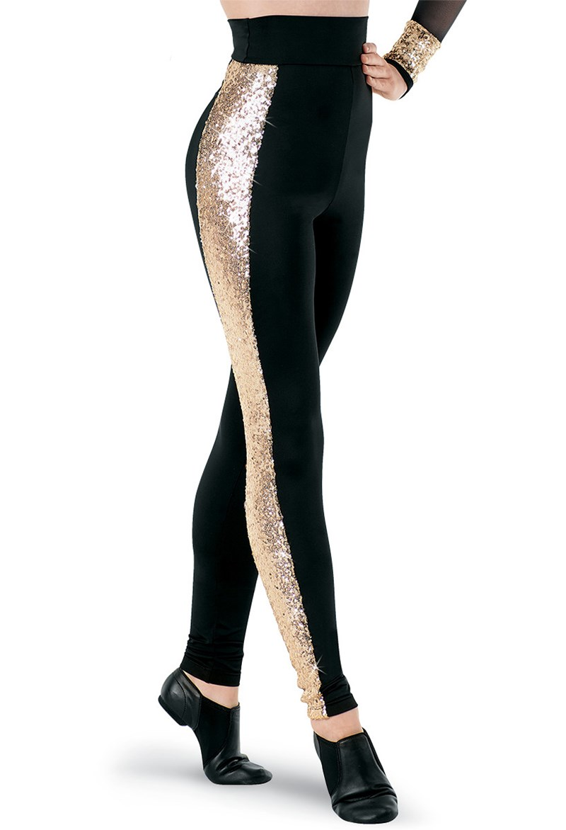 Balera Hologram Sequin Inset Leggings