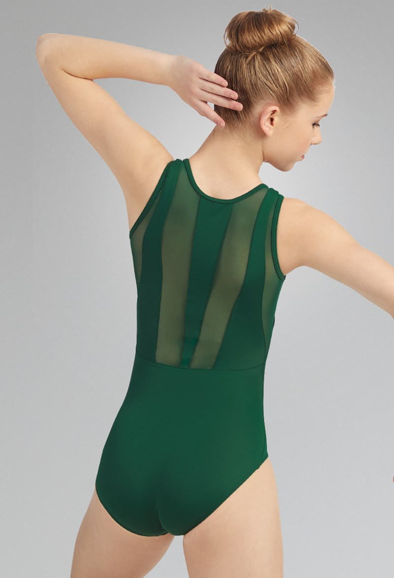 Tank Leotard with Mesh Back