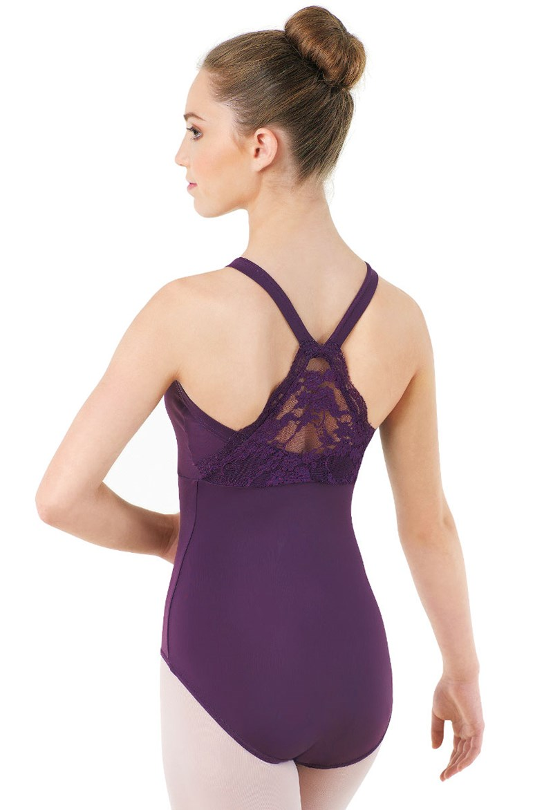 Scalloped Lace Back Leotard