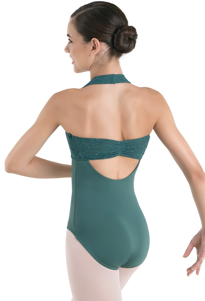 Leotard With Lace Halter