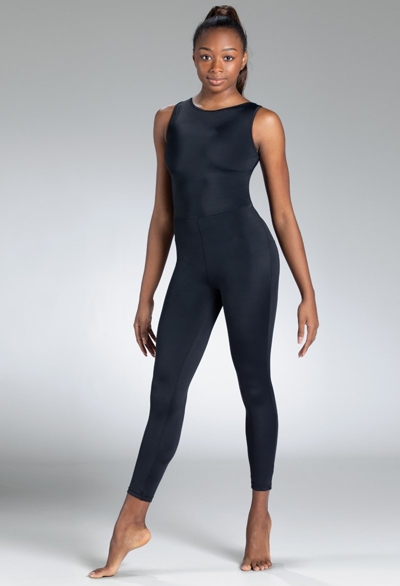 Balera Shirred Mesh Unitard - Black - Adult - NV12043