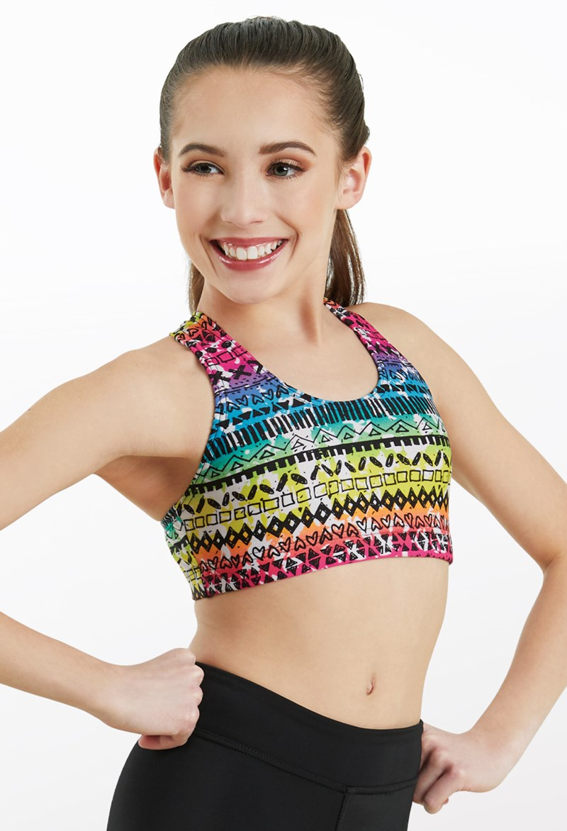 Balera Rainbow Island Bra Top - Multi - PL10858