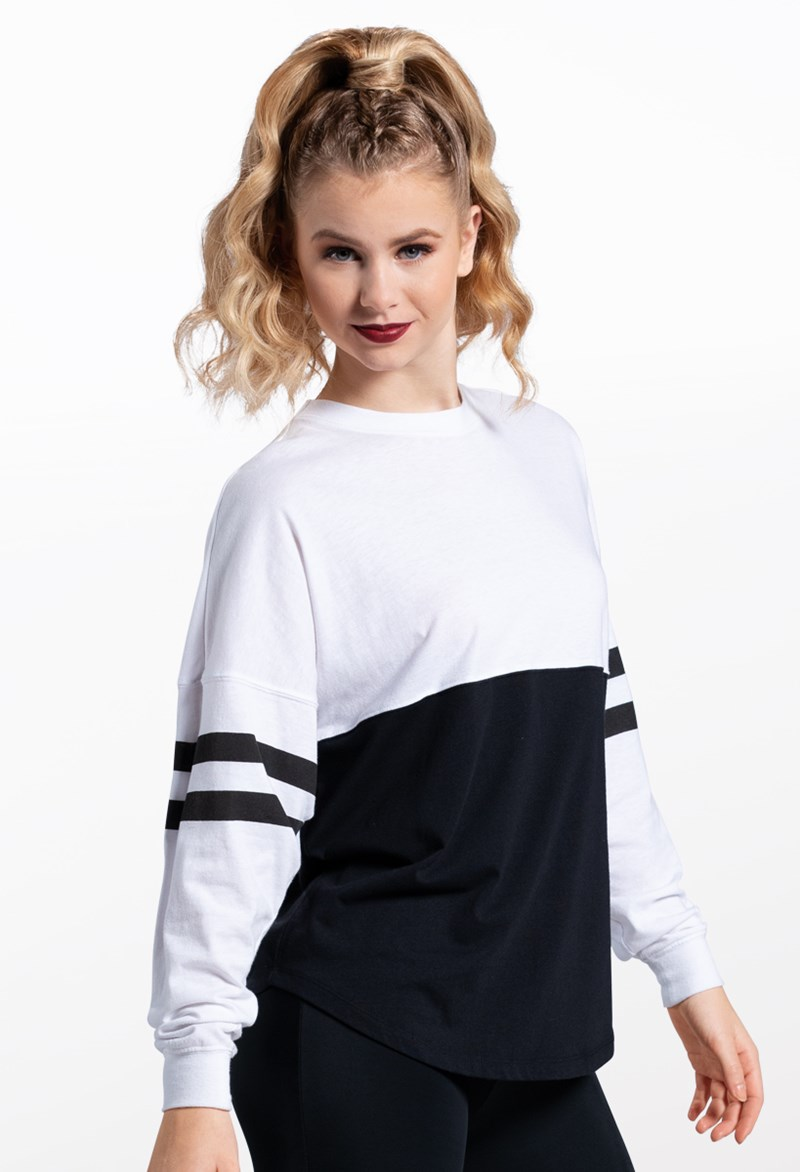 Oversized Color Block Top