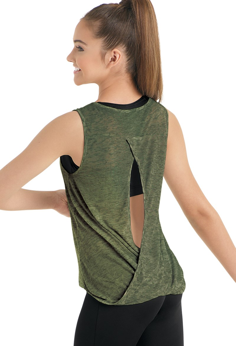 Urban Groove Draped Open Back Tank Top