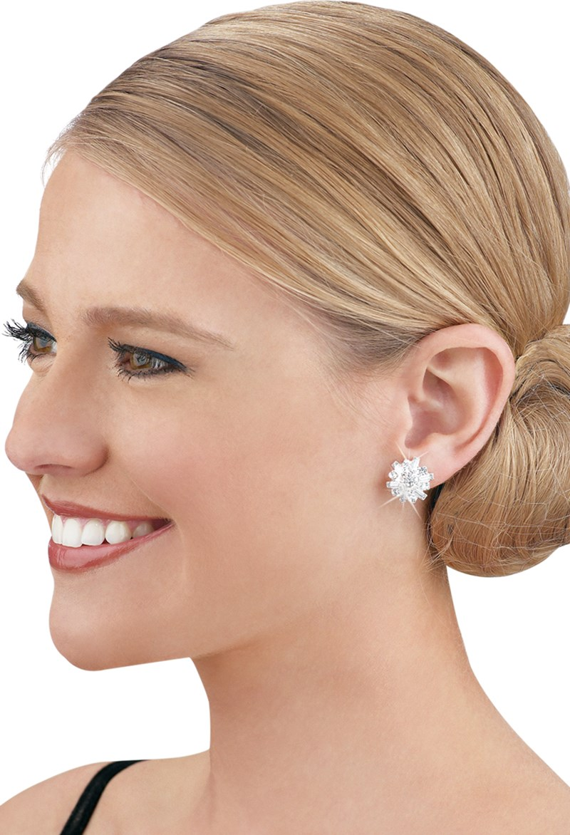 Balera Rhinestone Cluster Earrings