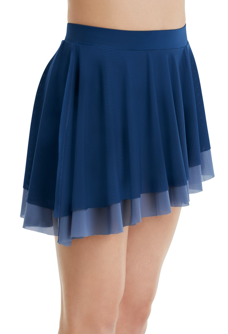 Double Layer Short Mesh Skirt