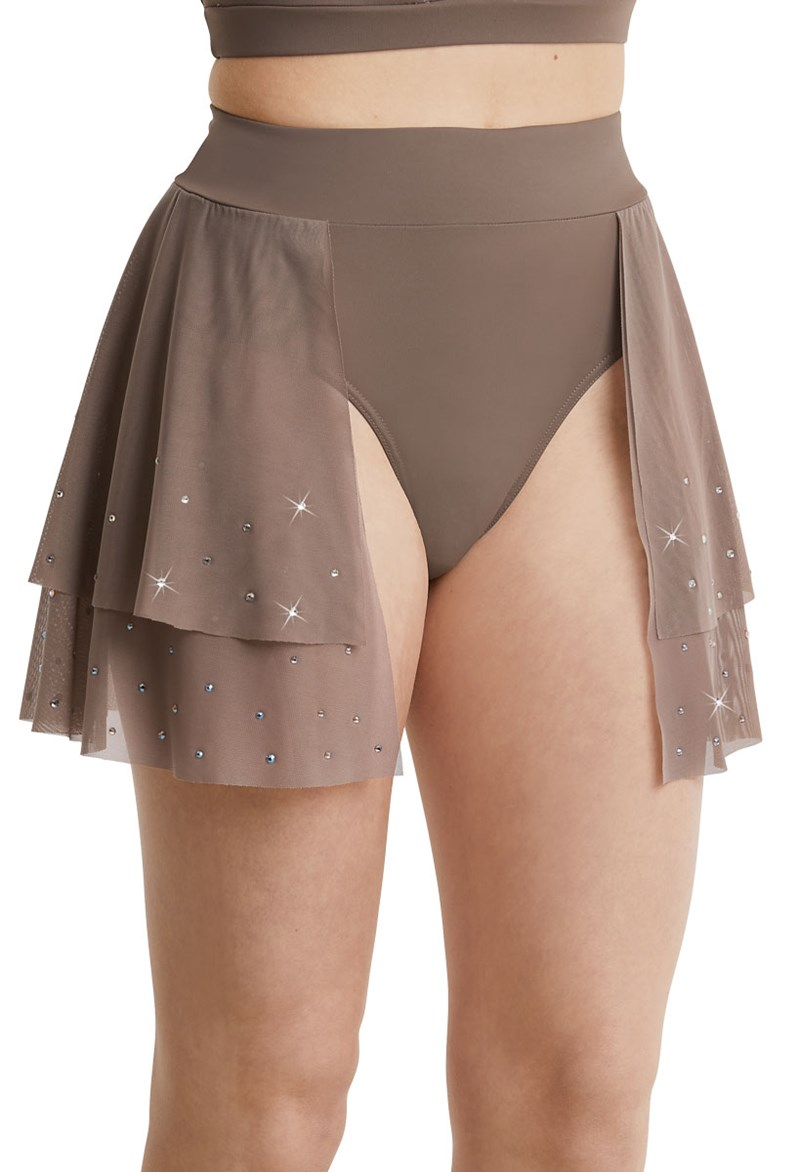 Ivy Sky Performance Tiered Crystal Skirt